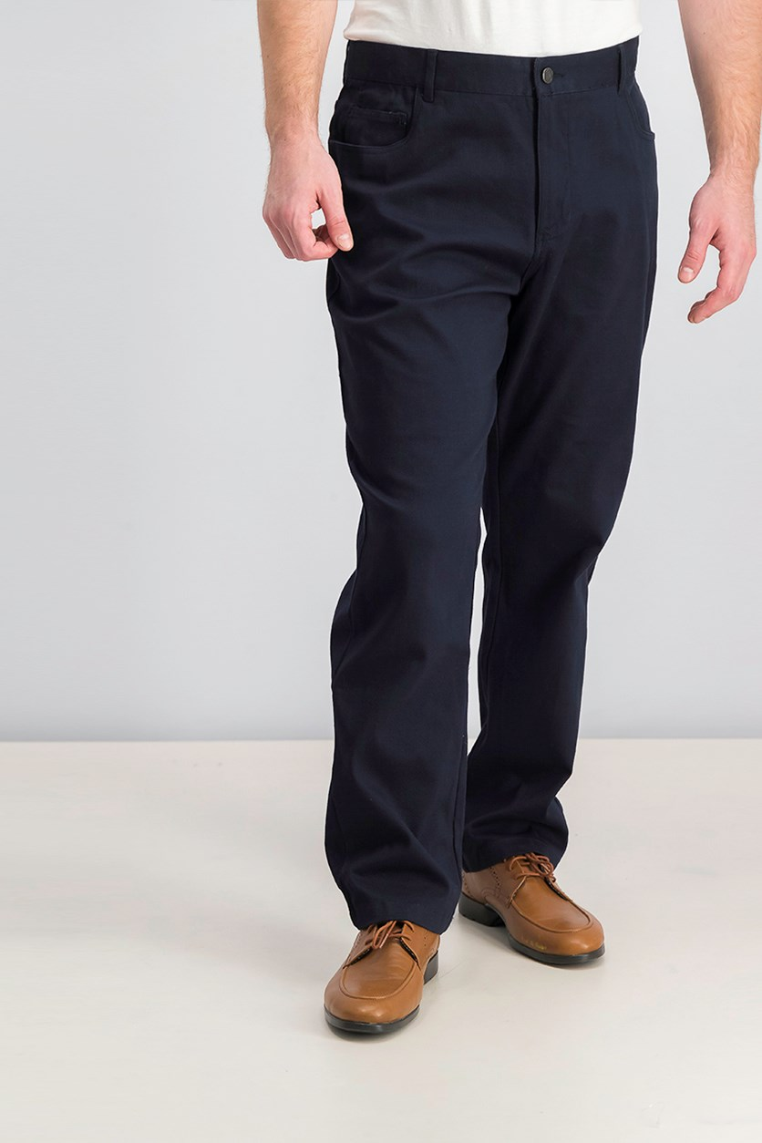 Men's Cross Hatch Pants, Navy