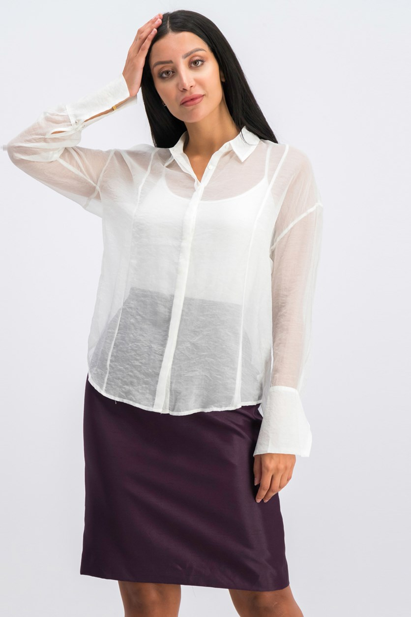 Women's Long Sleeve Shirt, White