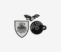 Levi's Limited Diy Patch & Pin Set, Black/White