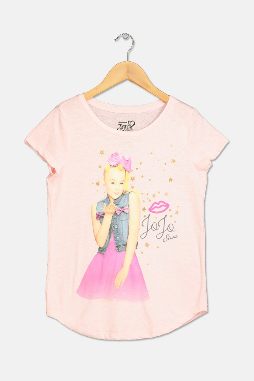 Girls Graphic-Print JoJo T-Shirt, Pink