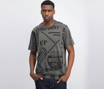 Inc International Concepts Men's Power Graphic T-Shirt, Stucco Grey