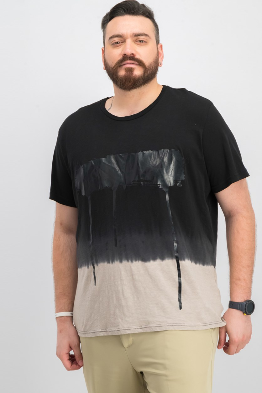 Men's Ombre Graphic T-Shirt, Tiramisu