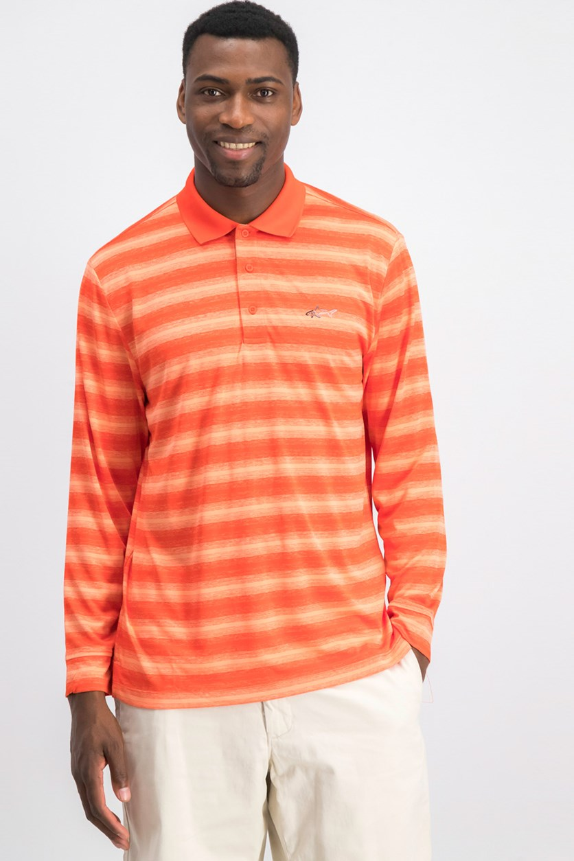 Men's Freemont Stripe Polo, Poinciana