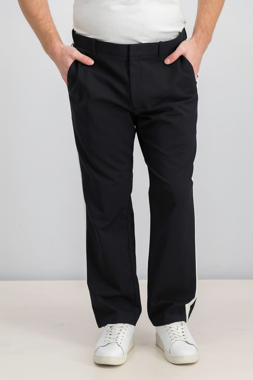 Men's Contrast Stripe Lux Pants, Black