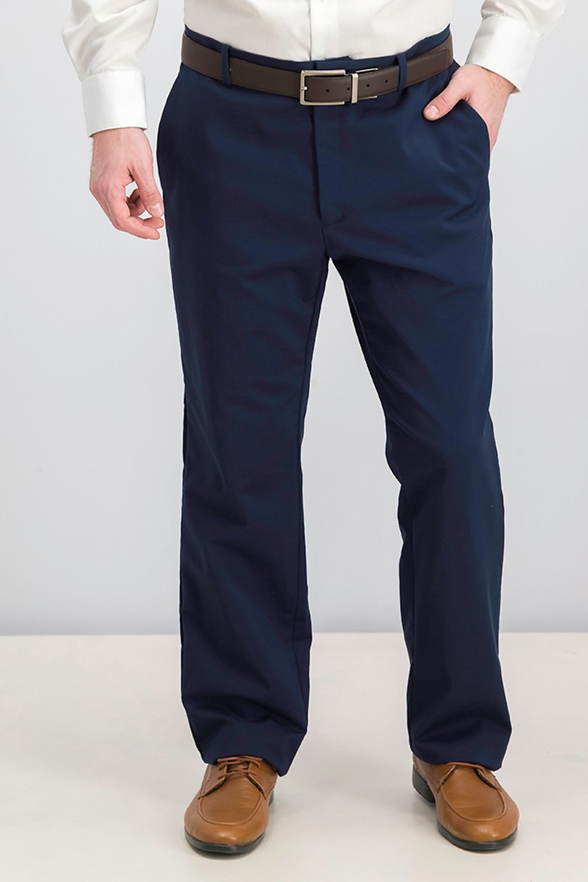 Men's Regular Fit Pants, Navy/Black