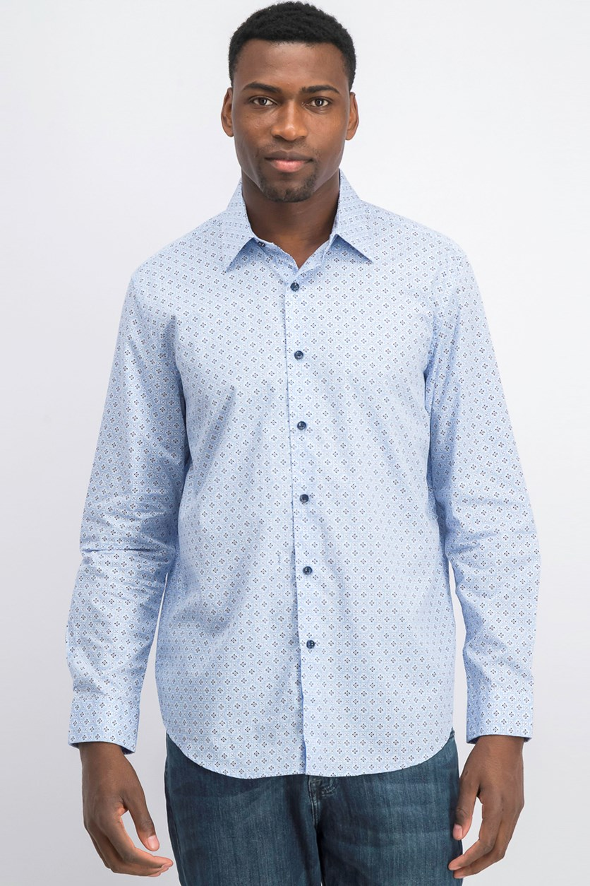 Mens Debala Printed Shirt, Blue