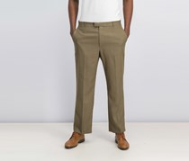 Perry Ellis Men's Portfolio Classic-Fit Flat-Front Sharkskin Pant, Rock Taupe