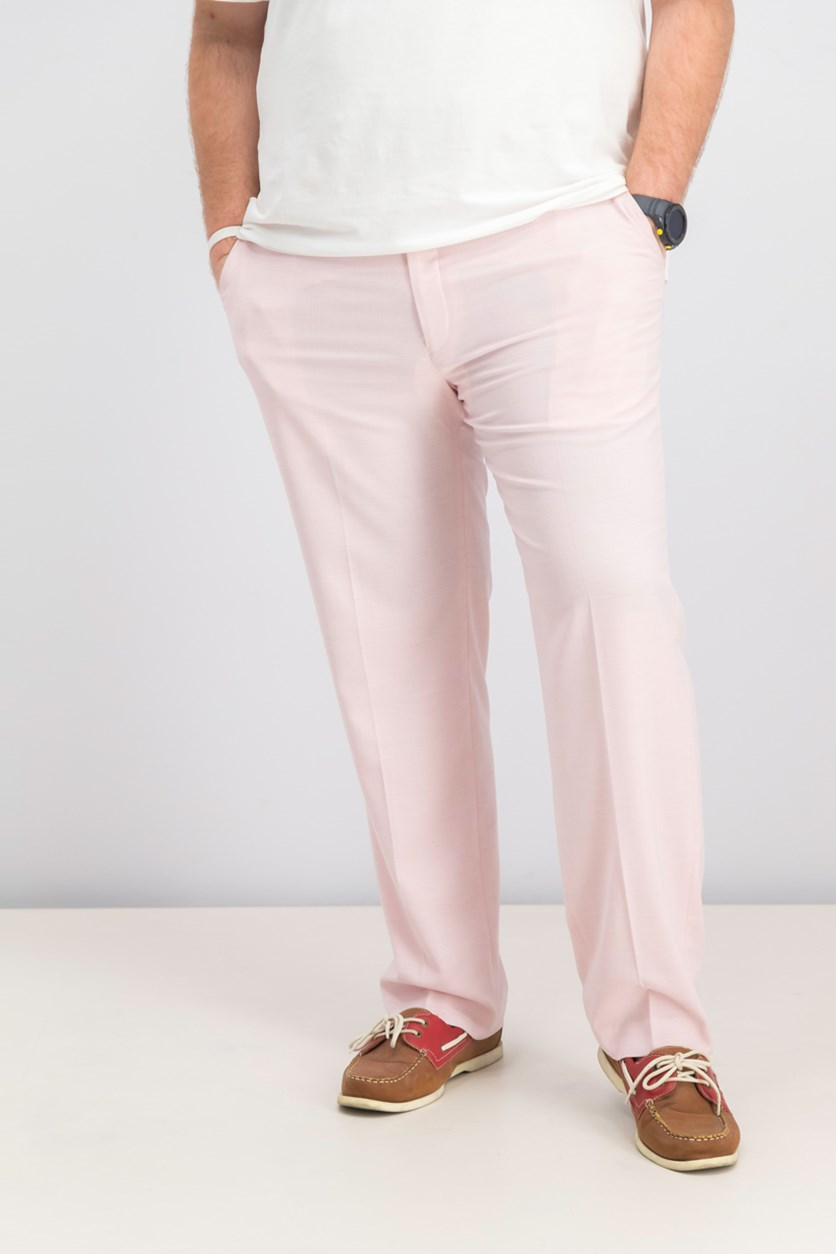 Men's Classic-Fit Stretch Suit Pants, Pink