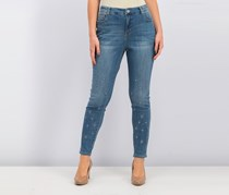 Style & Co Embroidered Skinny Jeans, Serenity