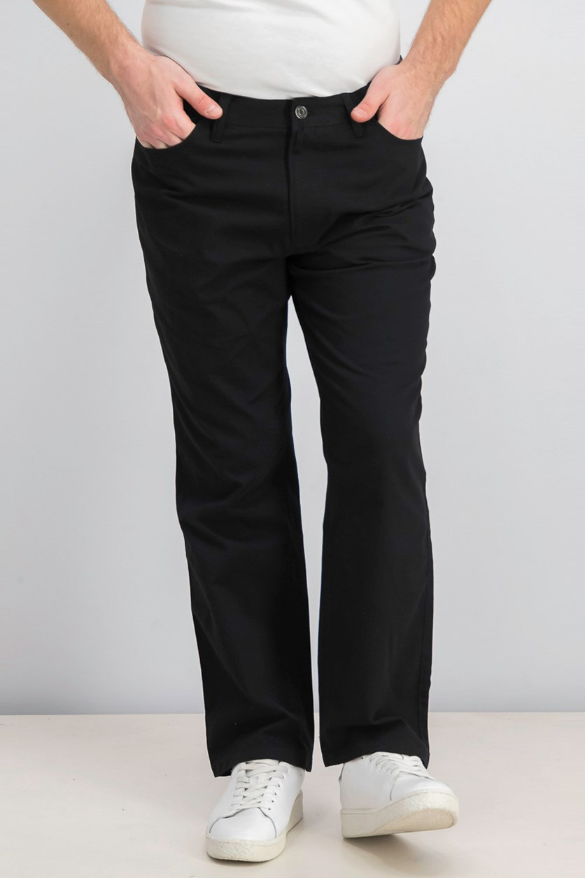 Men's Casual Chino Pants, Deep Black