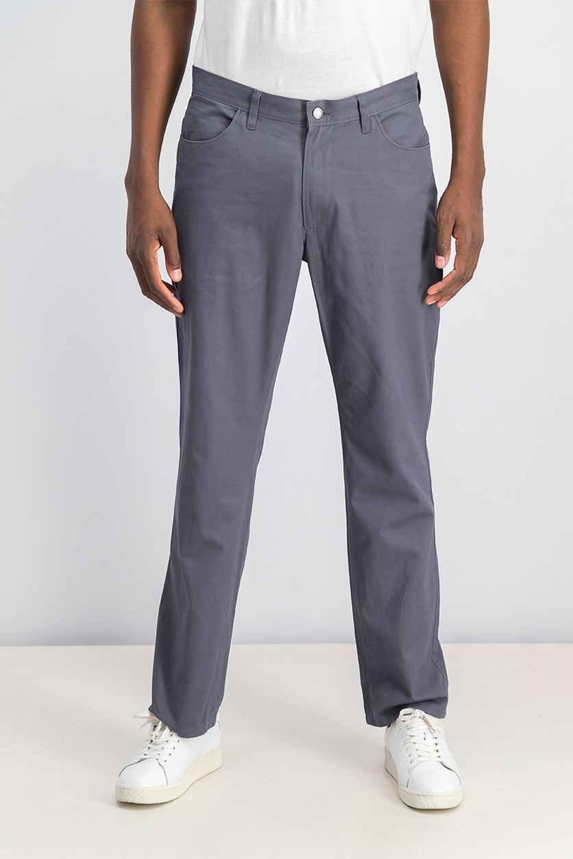 Mens Regular-Fit Pants, New Grey