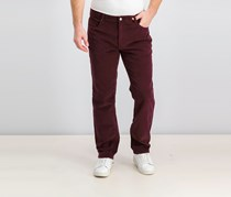 Men's Stretch Corduroy Pants, Burgundy