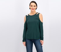 I.n.c. Cutout Long-Sleeve Top, Hunter Forest
