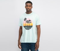 Men's Gold Sunset Graphic T-Shirt, Mint