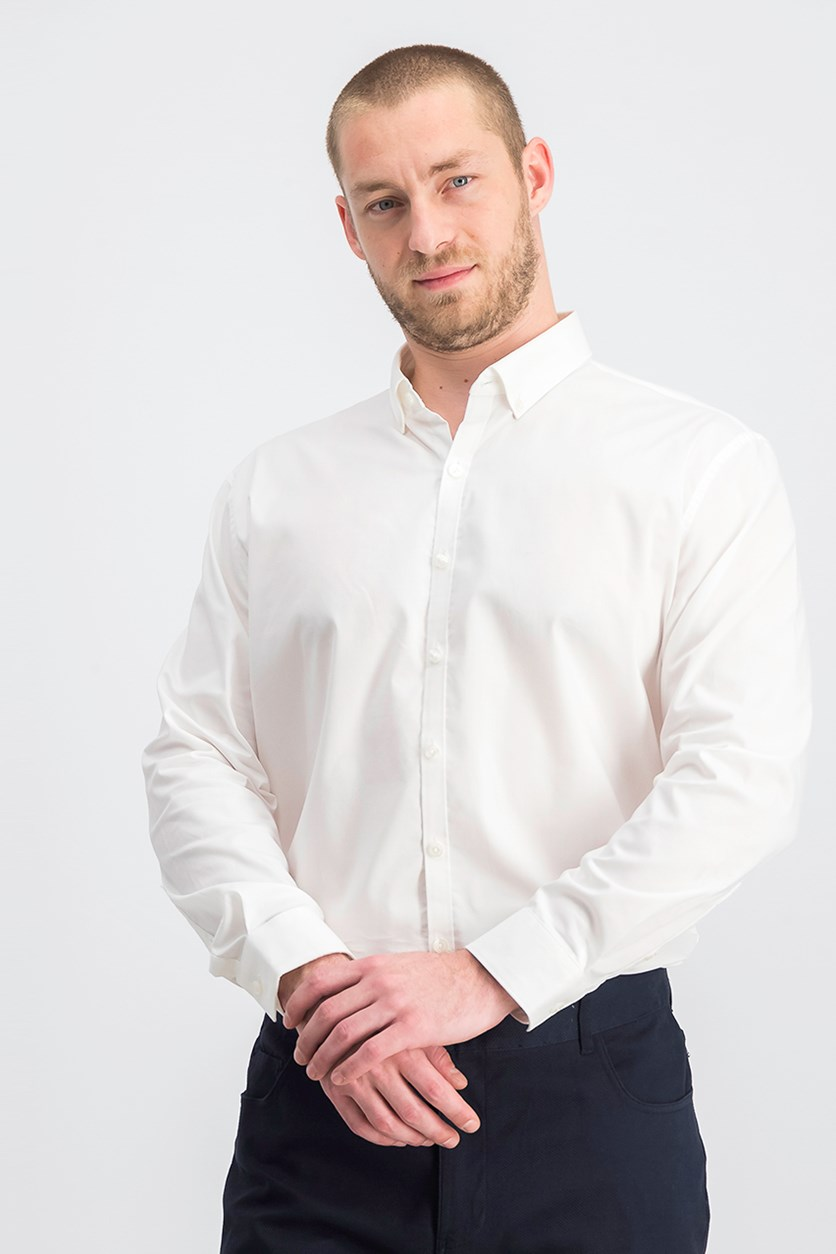 Kenneth Cole Reaction Men's Techni-Cole Slim-Fit Three-Way Stretch Performance Dress Shirt, White