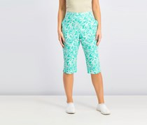 Alfred Dunner Petite Starfish-Print Pull-On Pants, Mint