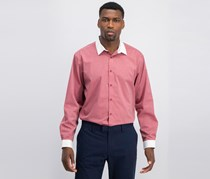 INC. Men's Striped Banker Shirt, Red Combo