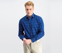 Men's Slim-Fit Stretch Stripe Dress Shirt, Blue