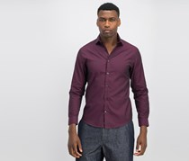 Calvin Klein Men's Extreme Slim-Fit Dress Shirt, Bordeaux