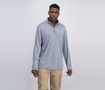 Tasso Elba Men's Quarter Zip-Up Pullover Sweater, Gray