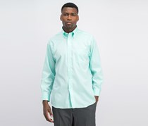 Eagle Men's Classic-Fit Stretch Collar Non-Iron Dress Shirt, Mint Julip