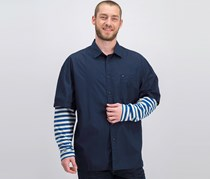 Tommy Hilfiger Men's Long Sleeve Shirt, Navy