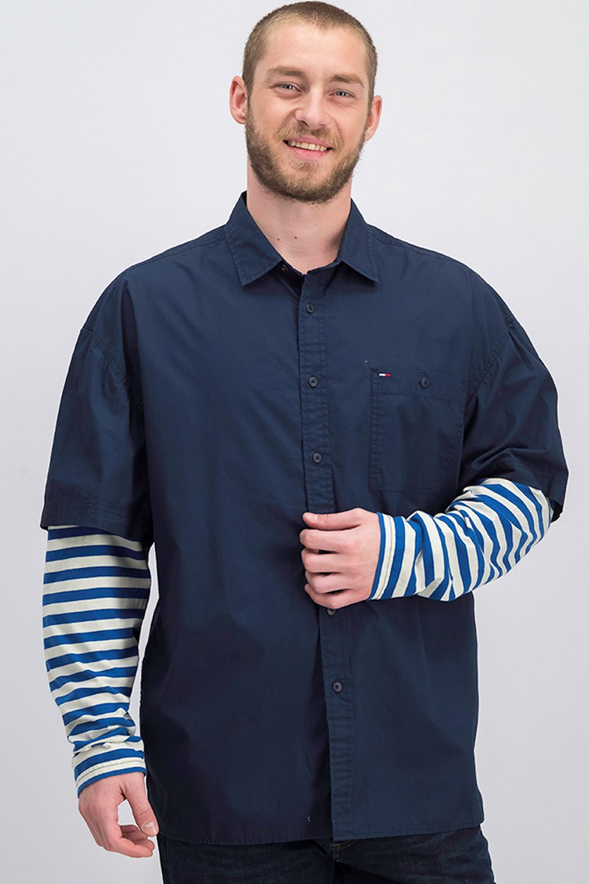 Men's Long Sleeve Shirt, Navy