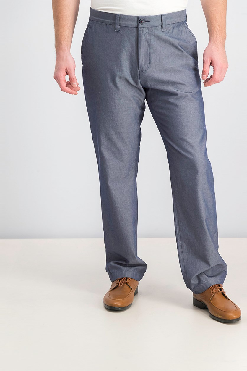 Men's Custom-Fit Chinos, Chambray