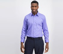 Calvin Klein Men's Slim-Fit Stretch Infinite Color Dress Shirt, Purple