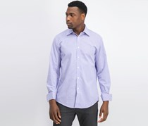 Sean John Men's Regular Fit French Cuff Dress Shirt, Purple