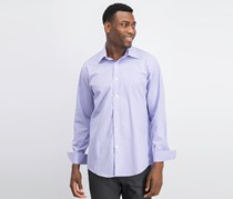 Sean John Mens Tailored Fit Dress Shirt, Purple Violet/White