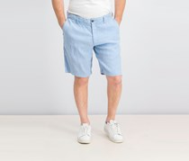 Men's Beach Linen Blend Shorts, Blue