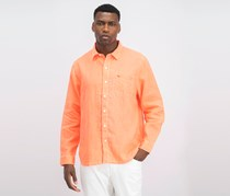 Men's Sea Glass Breezer Shirt, Electric Coral