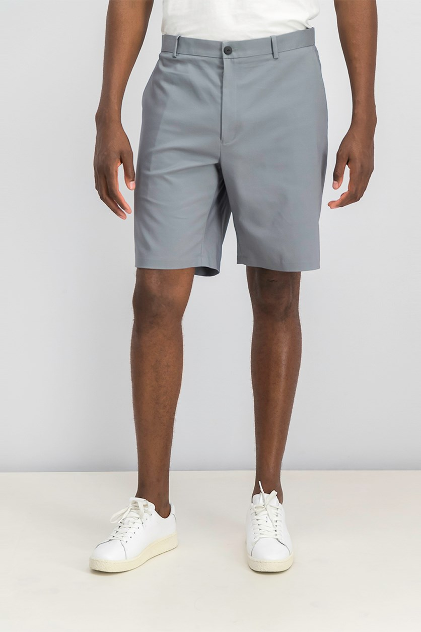 Men's Flat-Front Shorts, Gridion
