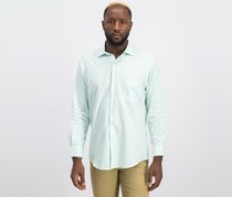 Alfani Men's Classic Fit Performance Twill Textured Dress Shirt, Mint