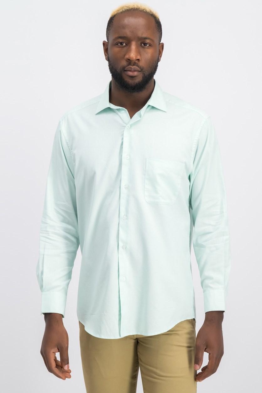 Men's Classic Fit Performance Twill Textured Dress Shirt, Mint