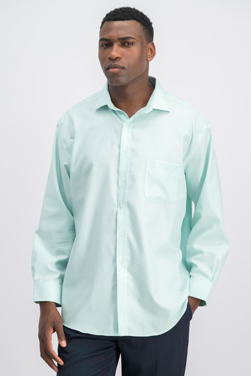 Men's Classic Fit Non Iron Dress Shirt, Mint Green