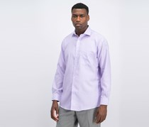 Tasso Elba Men's Stripe Regular Fit Non Iron Shirt, Lavender