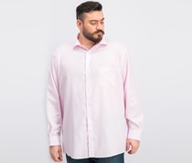Tasso Elba Men's Stripe Regular Fit Non Iron Shirt, Pink