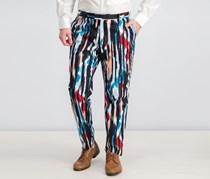 International Concepts Mens Cropped Ikat Pants, Blue Combo