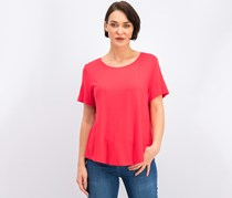 Women's Short Sleeve Top, Red Crystal