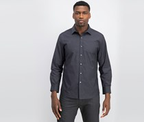 Bar III Men's Wear-Me-Out Slim-Fit Stretch Easy-Care Printed Dress Shirt, Black/Grey