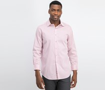 Alfani Men Slim-Fit Performance Dress Shirt, Magenta/White