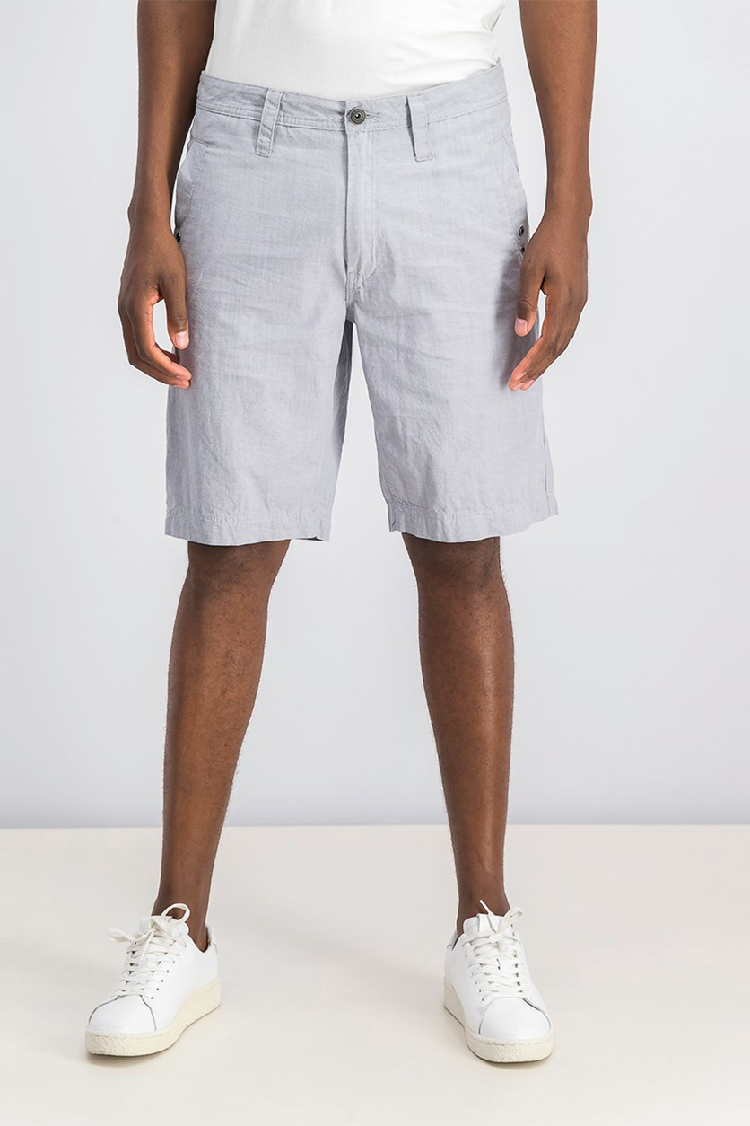 Men's Flat-Front Stretch Casual Walking Shorts, Pale Waters