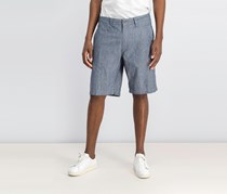 INC International Concepts Mens Flat-Front Stretch Short, Basic Navy