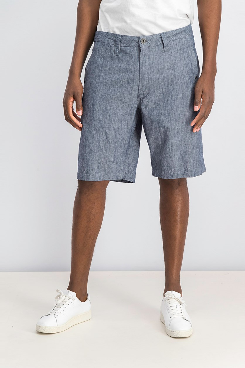 International Concepts Mens Flat-Front Stretch Short, Basic Navy