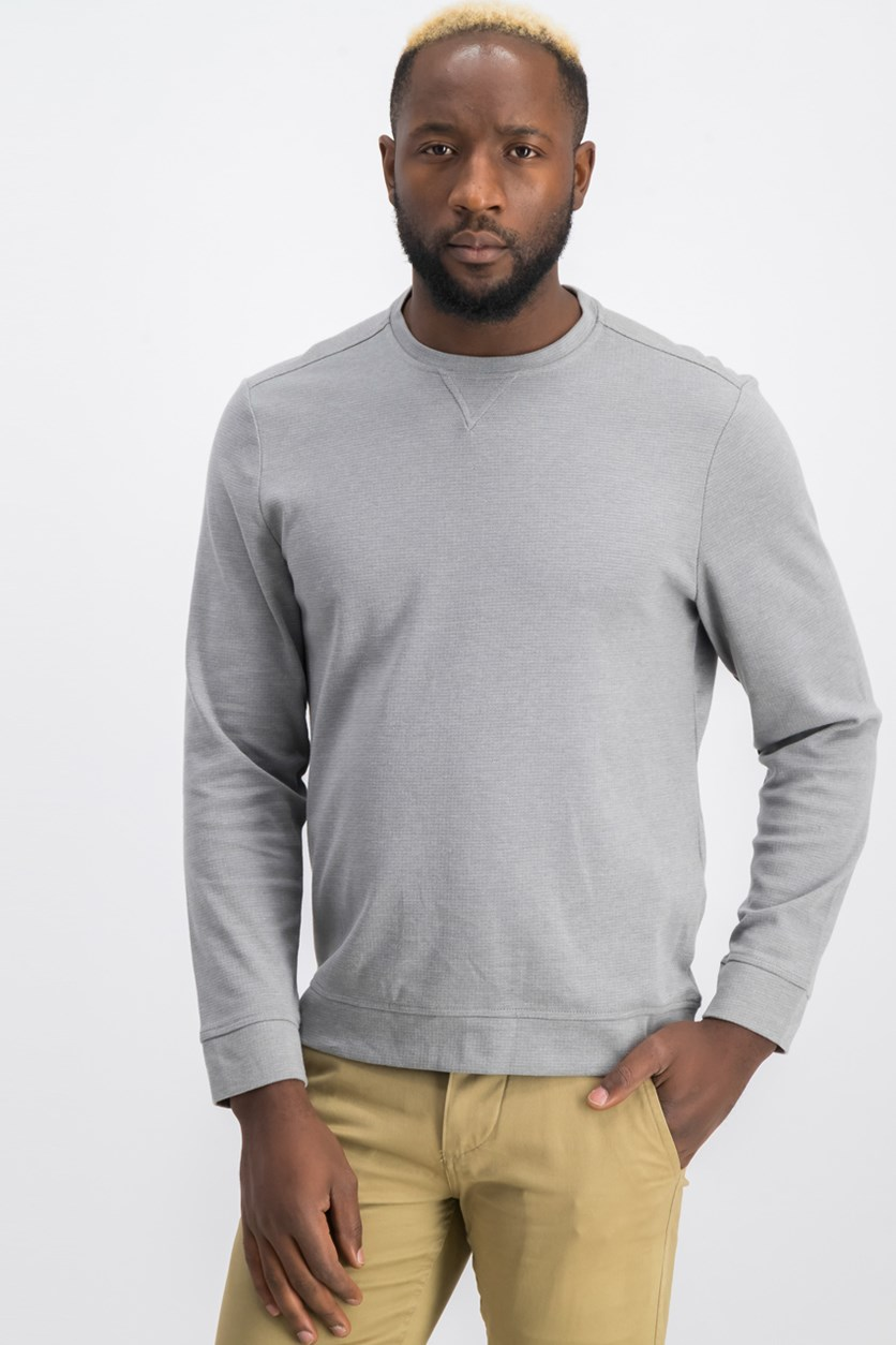 Mens Crewneck Sweater, Shade Slate