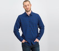 Alfani Men's Regular Fit Lewis Plaid Casual Shirt, Blue