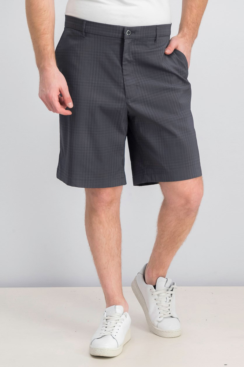 Men's Tonal Plaid Short, Grey