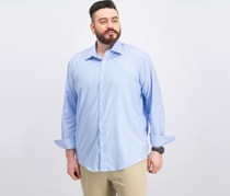 Men's Classic Regular Fit Text, Soft Blue
